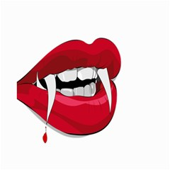 Mouth Jaw Teeth Vampire Blood Small Garden Flag (Two Sides)