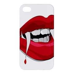 Mouth Jaw Teeth Vampire Blood Apple iPhone 4/4S Premium Hardshell Case