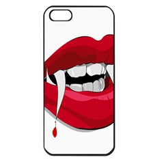 Mouth Jaw Teeth Vampire Blood Apple iPhone 5 Seamless Case (Black)