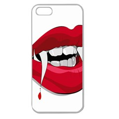Mouth Jaw Teeth Vampire Blood Apple Seamless Iphone 5 Case (clear)