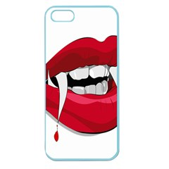 Mouth Jaw Teeth Vampire Blood Apple Seamless Iphone 5 Case (color)