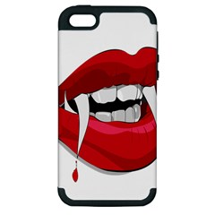 Mouth Jaw Teeth Vampire Blood Apple iPhone 5 Hardshell Case (PC+Silicone)