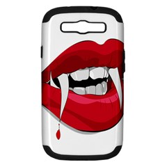 Mouth Jaw Teeth Vampire Blood Samsung Galaxy S III Hardshell Case (PC+Silicone)