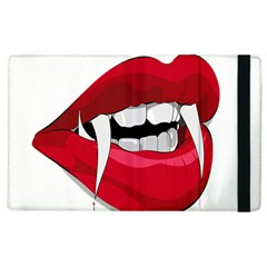 Mouth Jaw Teeth Vampire Blood Apple iPad 3/4 Flip Case