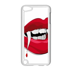 Mouth Jaw Teeth Vampire Blood Apple iPod Touch 5 Case (White)