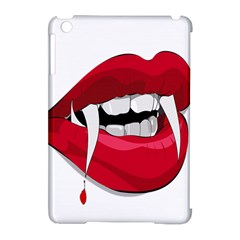 Mouth Jaw Teeth Vampire Blood Apple iPad Mini Hardshell Case (Compatible with Smart Cover)