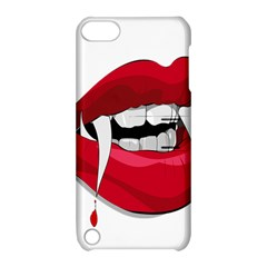 Mouth Jaw Teeth Vampire Blood Apple Ipod Touch 5 Hardshell Case With Stand