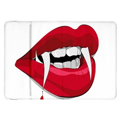Mouth Jaw Teeth Vampire Blood Samsung Galaxy Tab 8 9  P7300 Flip Case