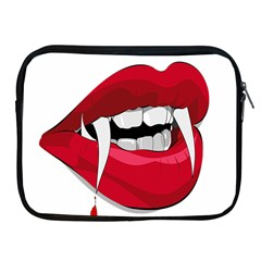 Mouth Jaw Teeth Vampire Blood Apple iPad 2/3/4 Zipper Cases