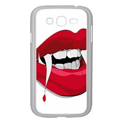 Mouth Jaw Teeth Vampire Blood Samsung Galaxy Grand DUOS I9082 Case (White)