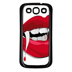Mouth Jaw Teeth Vampire Blood Samsung Galaxy S3 Back Case (Black)