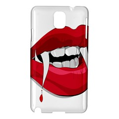 Mouth Jaw Teeth Vampire Blood Samsung Galaxy Note 3 N9005 Hardshell Case