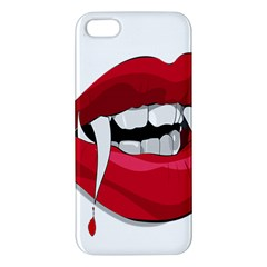 Mouth Jaw Teeth Vampire Blood iPhone 5S/ SE Premium Hardshell Case
