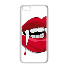Mouth Jaw Teeth Vampire Blood Apple iPhone 5C Seamless Case (White)