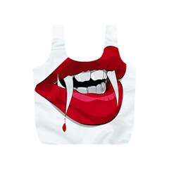 Mouth Jaw Teeth Vampire Blood Full Print Recycle Bags (S)