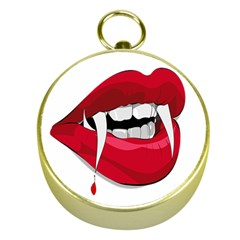 Mouth Jaw Teeth Vampire Blood Gold Compasses