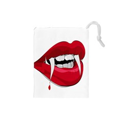 Mouth Jaw Teeth Vampire Blood Drawstring Pouches (Small)