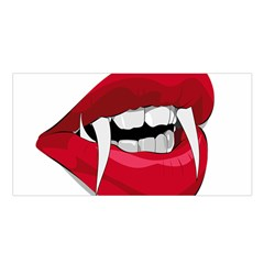 Mouth Jaw Teeth Vampire Blood Satin Shawl