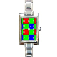 Bayer Pattern Rectangle Italian Charm Watch