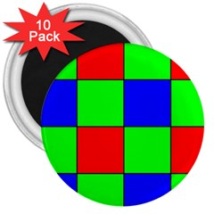 Bayer Pattern 3  Magnets (10 pack)