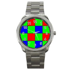 Bayer Pattern Sport Metal Watch
