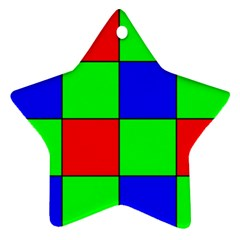 Bayer Pattern Star Ornament (two Sides)