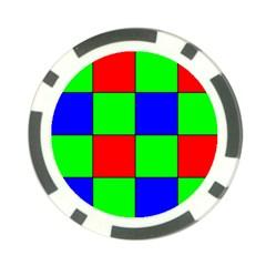 Bayer Pattern Poker Chip Card Guard