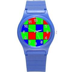 Bayer Pattern Round Plastic Sport Watch (S)
