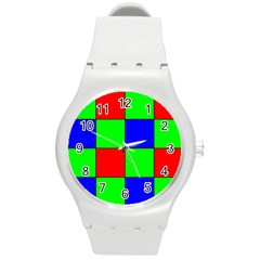 Bayer Pattern Round Plastic Sport Watch (M)