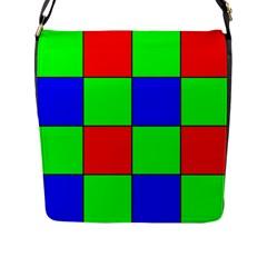 Bayer Pattern Flap Messenger Bag (L)