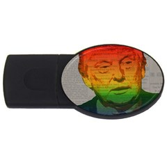 Rainbow Trump  USB Flash Drive Oval (4 GB)