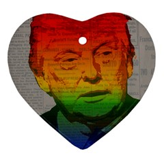 Rainbow Trump  Heart Ornament (Two Sides)