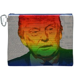 Rainbow Trump  Canvas Cosmetic Bag (XXXL)