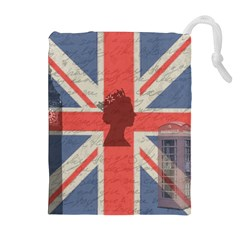 Vintage London Drawstring Pouches (Extra Large)
