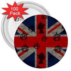 United Kingdom  3  Buttons (100 pack)