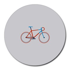 Bicycle Sports Drawing Minimalism Round Mousepads