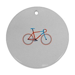 Bicycle Sports Drawing Minimalism Ornament (Round)