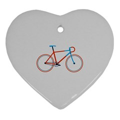 Bicycle Sports Drawing Minimalism Ornament (heart)