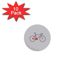 Bicycle Sports Drawing Minimalism 1  Mini Buttons (10 pack)