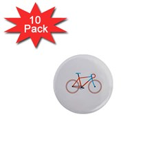 Bicycle Sports Drawing Minimalism 1  Mini Magnet (10 Pack)