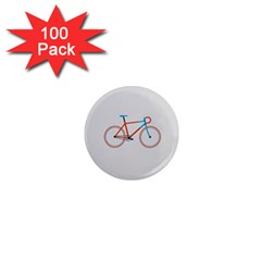 Bicycle Sports Drawing Minimalism 1  Mini Magnets (100 Pack)