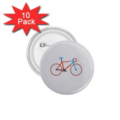Bicycle Sports Drawing Minimalism 1.75  Buttons (10 pack)