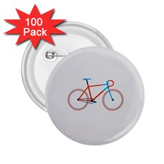 Bicycle Sports Drawing Minimalism 2.25  Buttons (100 pack)