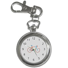 Bicycle Sports Drawing Minimalism Key Chain Watches