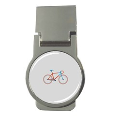 Bicycle Sports Drawing Minimalism Money Clips (Round)