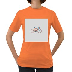 Bicycle Sports Drawing Minimalism Women s Dark T Shirt