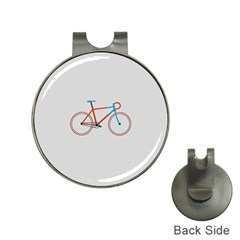 Bicycle Sports Drawing Minimalism Hat Clips with Golf Markers