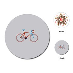 Bicycle Sports Drawing Minimalism Playing Cards (Round)