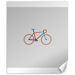 Bicycle Sports Drawing Minimalism Canvas 20  x 24