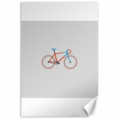 Bicycle Sports Drawing Minimalism Canvas 24  X 36